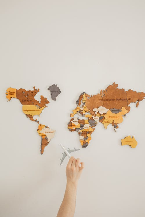 A World Map Wall Decor