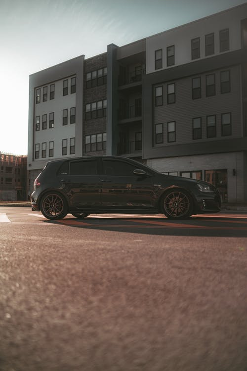Black Car Parked on the Road
