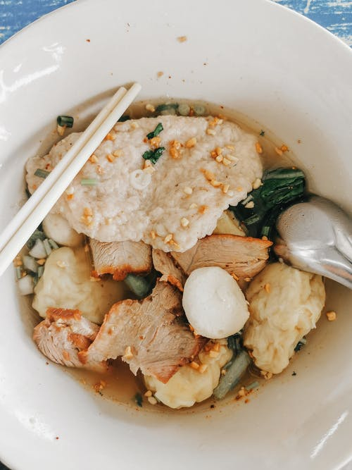 A Delicious Meat Soup in a Bowl
