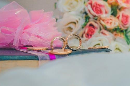 Close Up Shot of Gold Rings