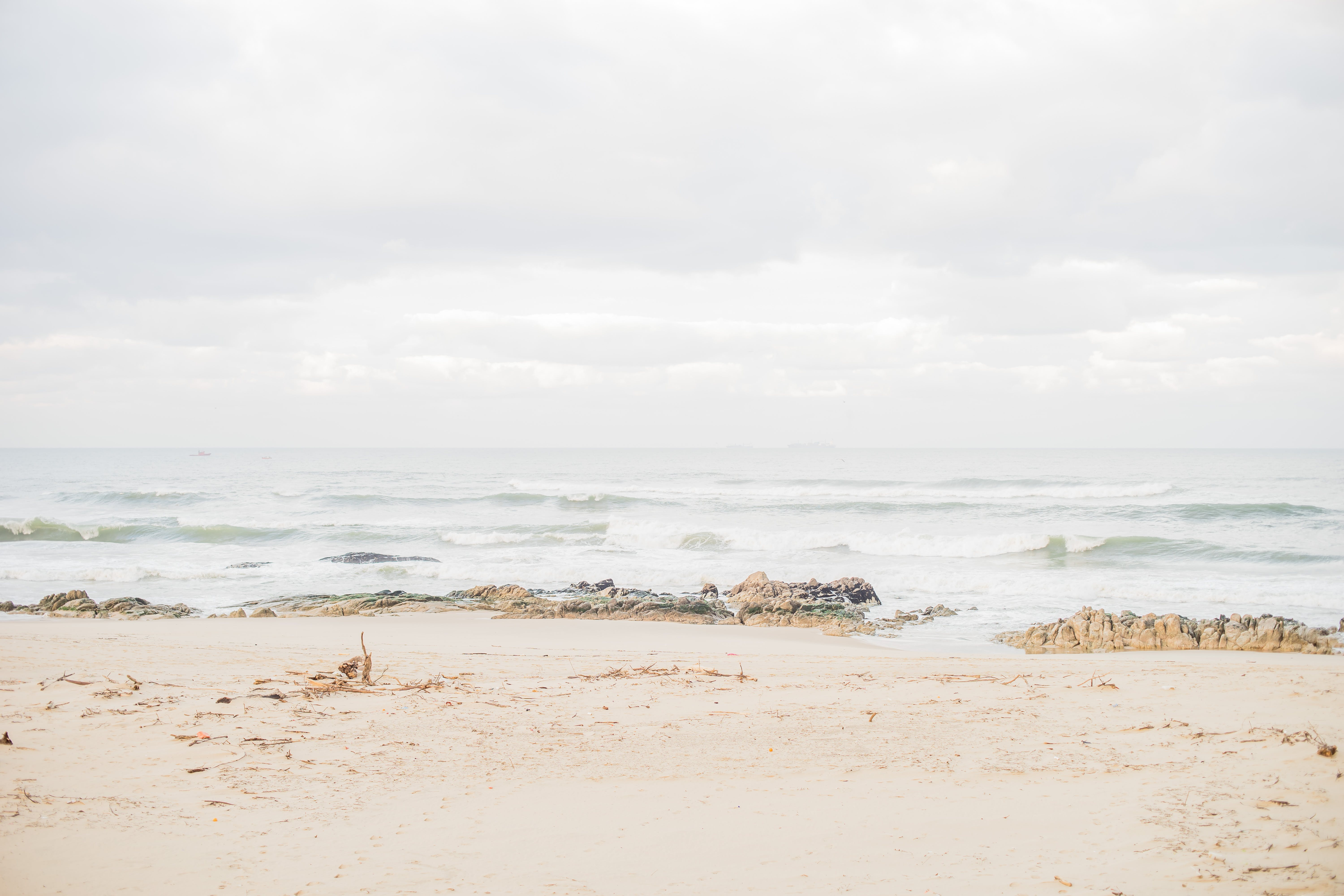 Free stock photo of beach, faded, ocean, overexposed