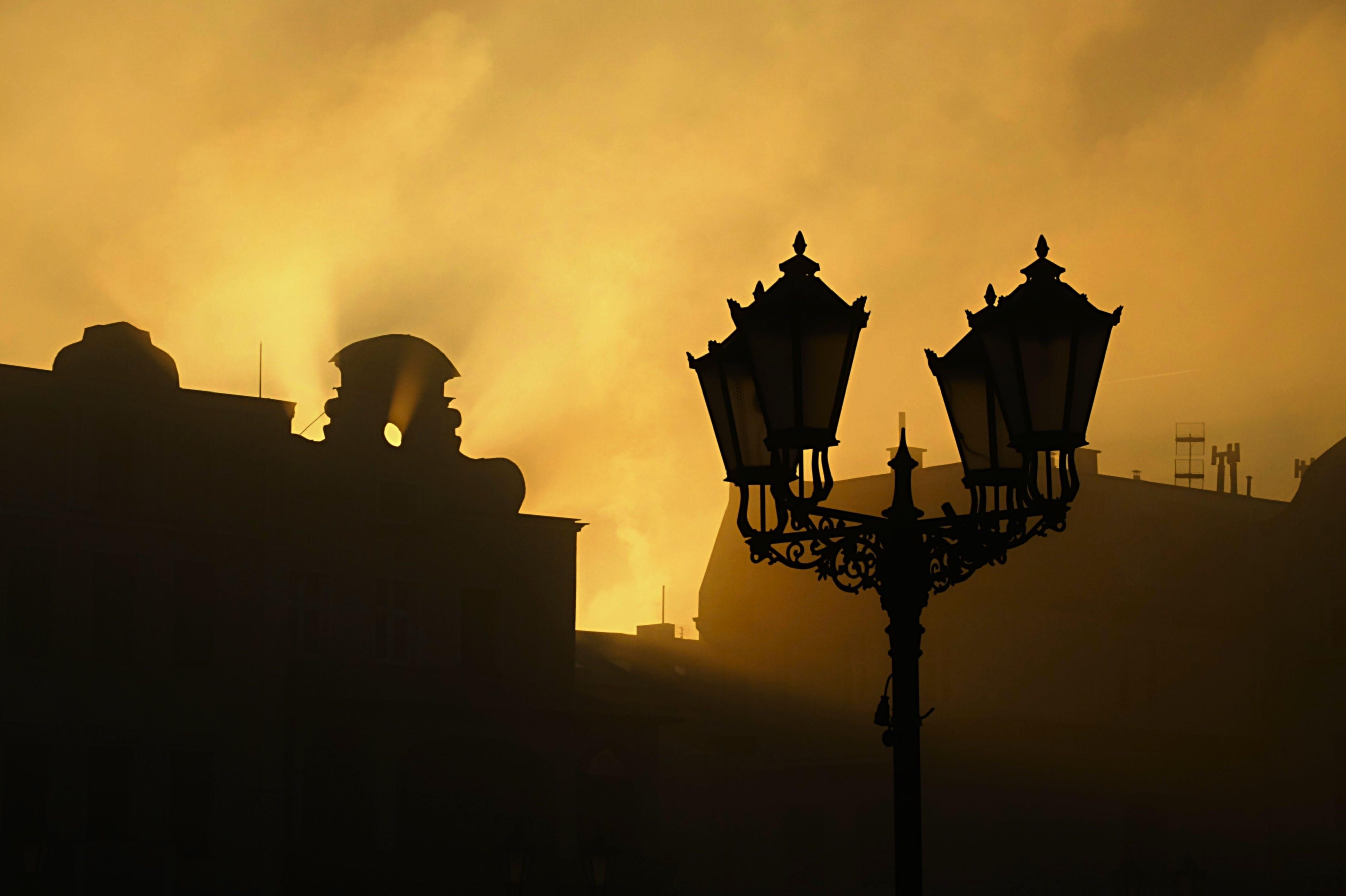 Free stock photo of clouds, fog, lantern, mist