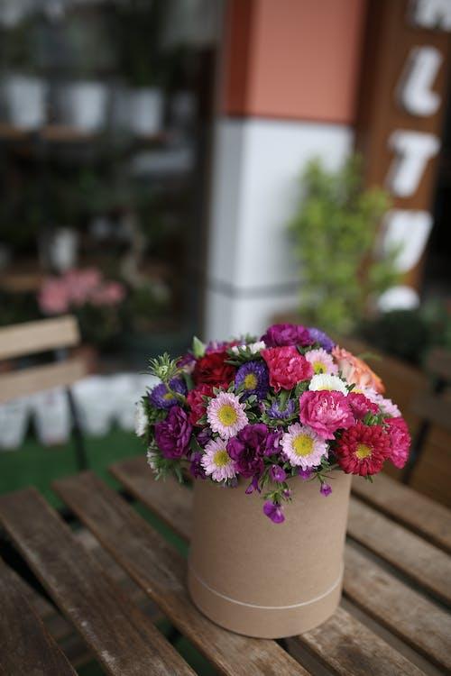 Flowers in box on terrace