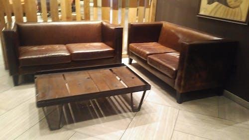 Free stock photo of brown, brown sofa, leather sofa