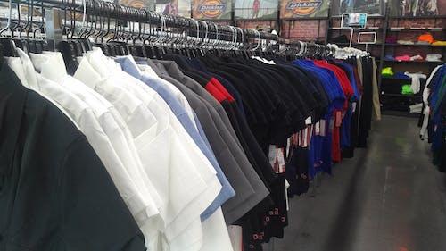 Free stock photo of clothing rack, clothing store, uniform rack