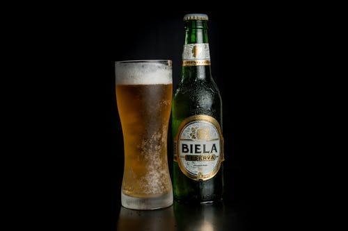 A Glass and Bottle of Beer