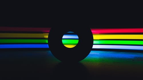 A Round Object and LED lights