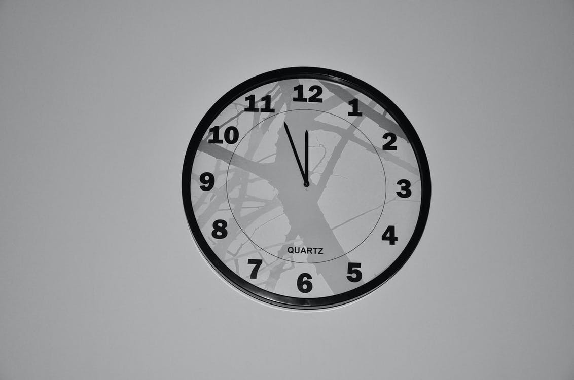 Free stock photo of black-and-white, clock, time
