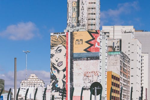 A Building with a Graffiti Art at Sao Paulo