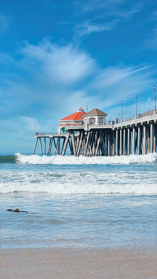 A Scenic View of a Pier on the Beach