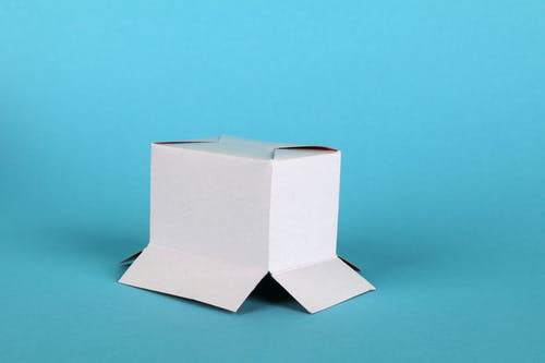 Gray Box on White Surface