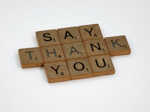 Say Thank You Wooden Scrabble Tiles
