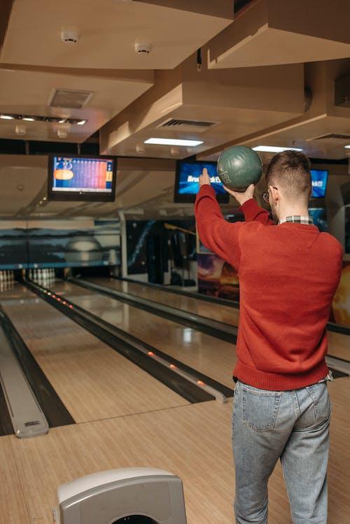 A Man Playing Bowling