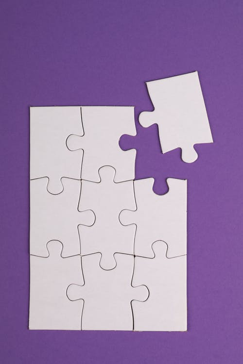 Pink and White Jigsaw Puzzle