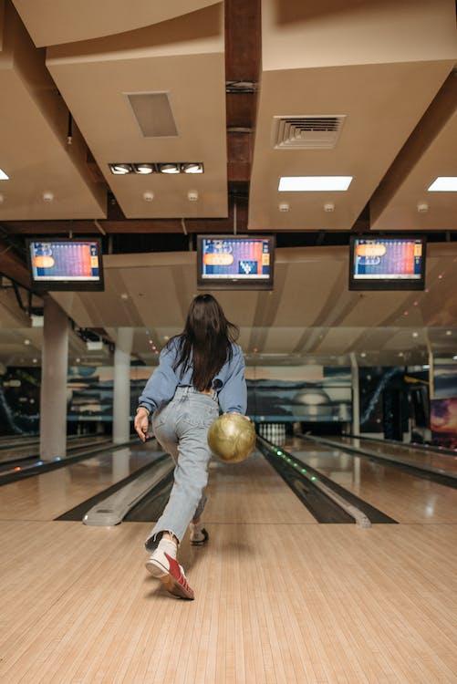 A Woman Playing Bowling
