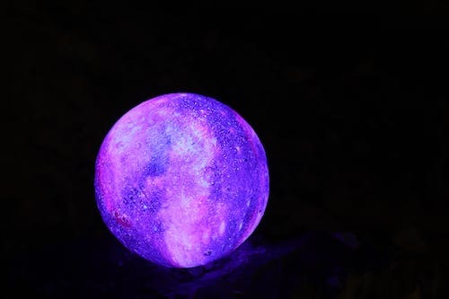 Free stock photo of boulder, planet, purple light