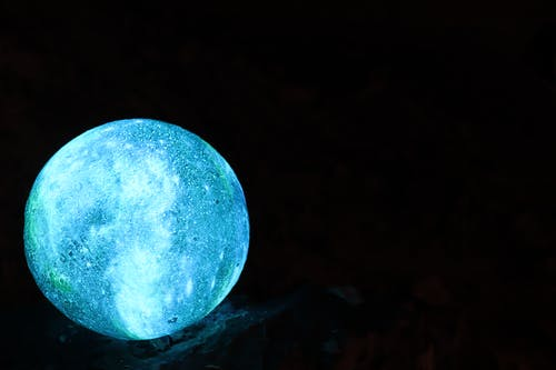 Free stock photo of blue light, boulder, planet