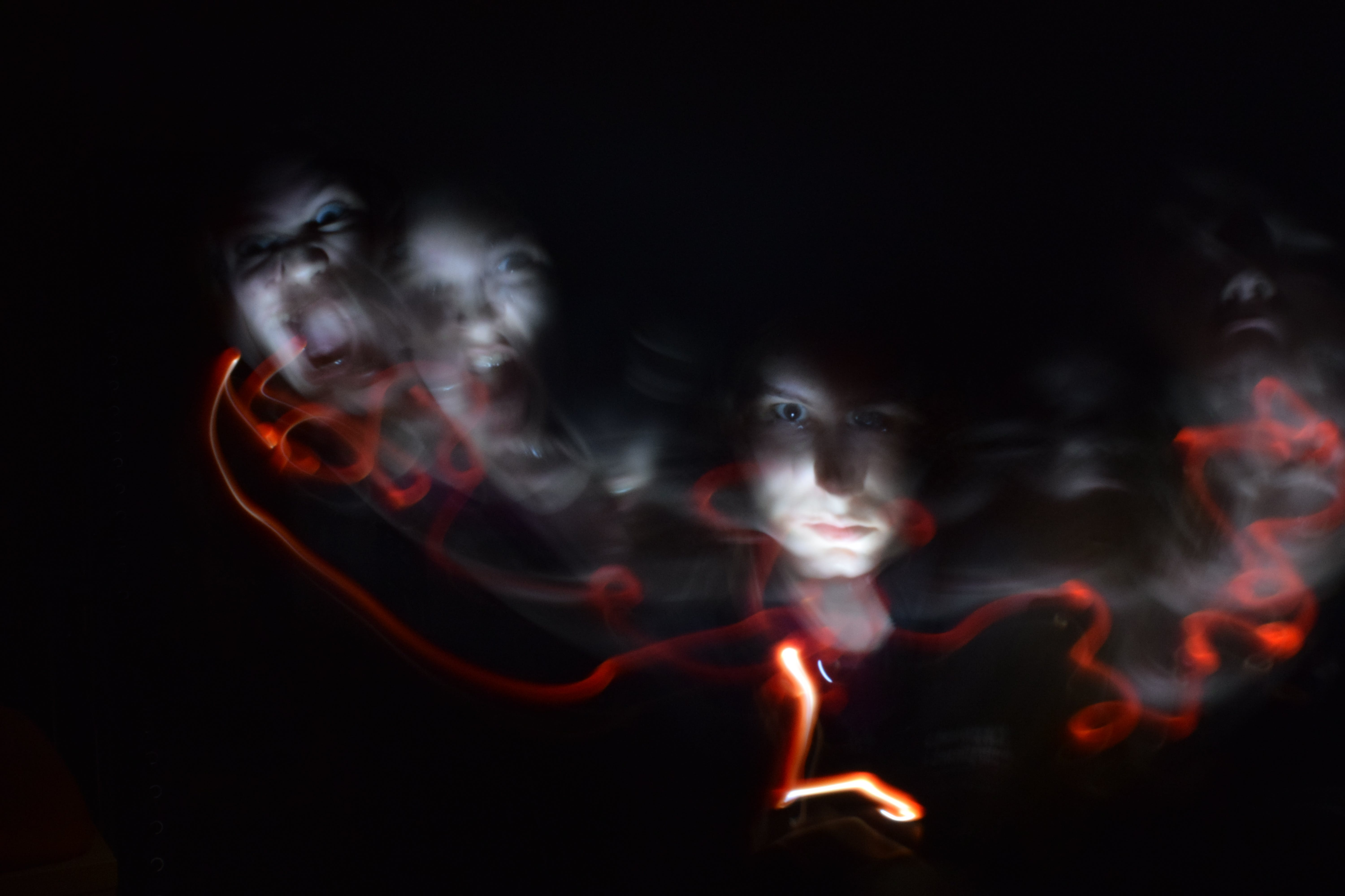 Free stock photo of blur, face, creepy, light painting