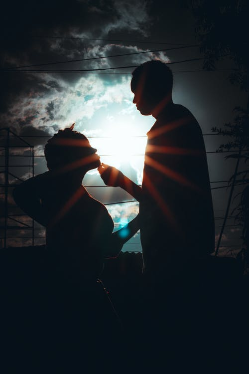 Free stock photo of blue, couple, flare