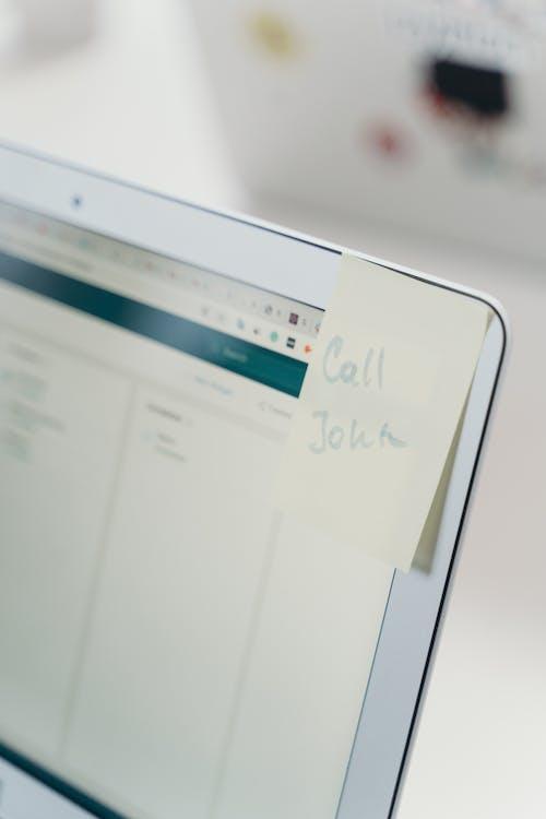 Sticky Note on a Laptop Screen