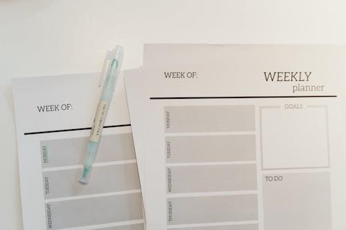 Photos gratuites de calendrier, emploi du temps, papiers