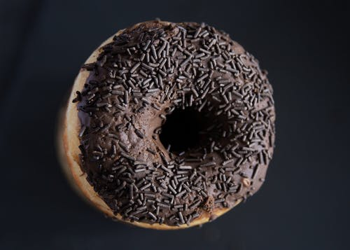 Close-Up Photo of a Chocolate Donut