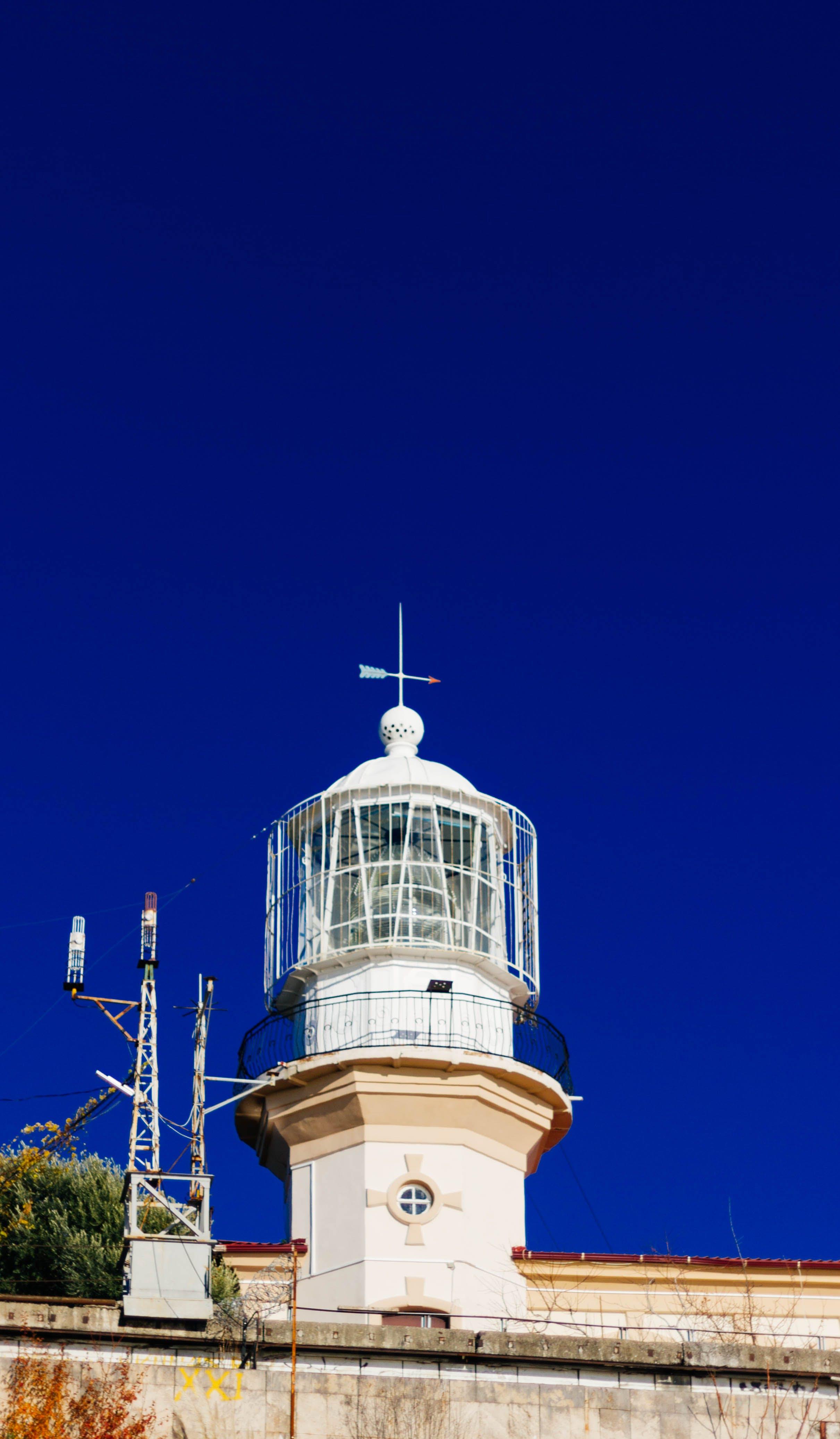Free stock photo of sea, sky, lighthouse