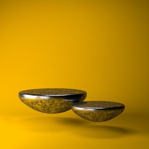 2 Black and Gray Ceramic Bowls