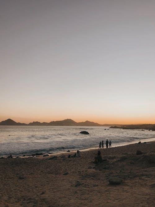 Free stock photo of atardecer, beach, dawn