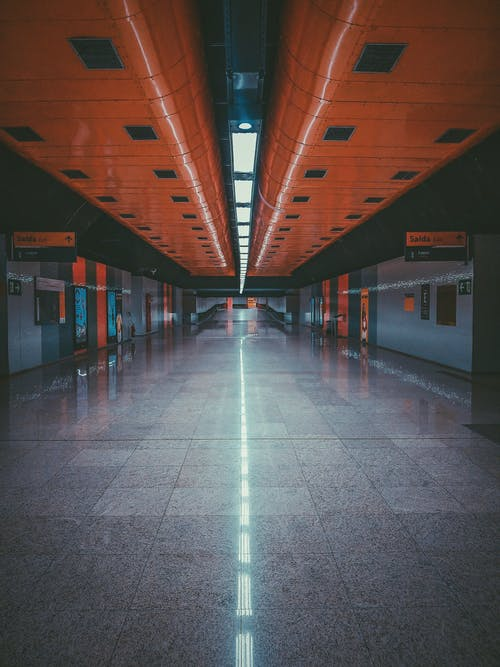 Underground hallway of subway station