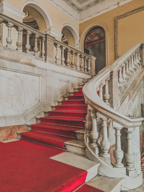 Classic stairway in historic building
