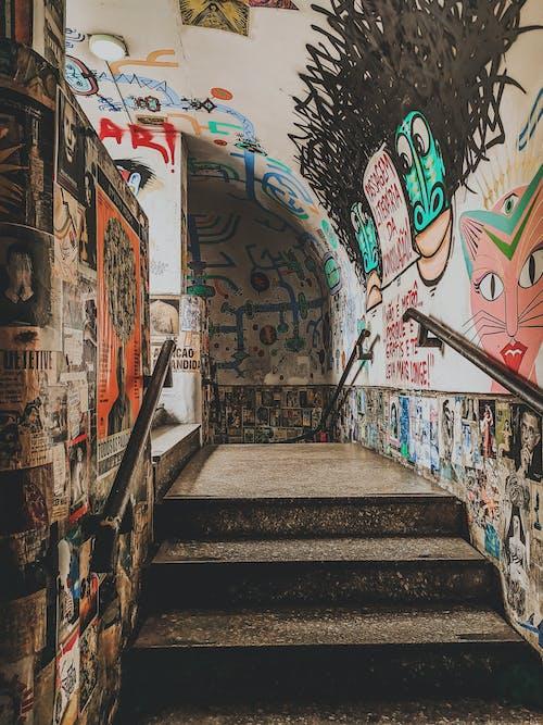 Gratis stockfoto met architectuur, balustrade, binnenkomst