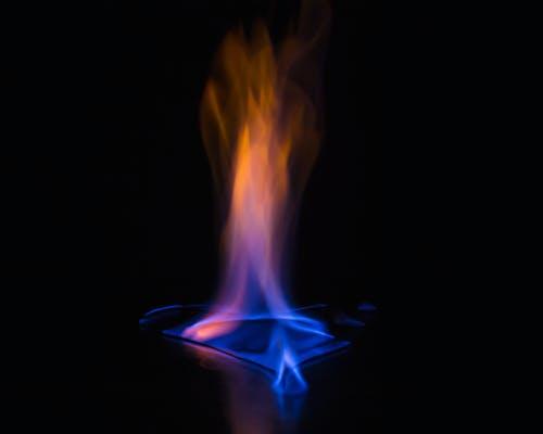 Бесплатное стоковое фото с голубое пламя, голубой, красный, огонь