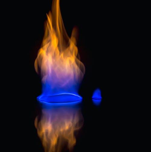 Бесплатное стоковое фото с бальк фон, голубой, красный, огонь