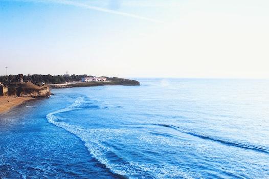 Free stock photo of sea, beach, blue, morning