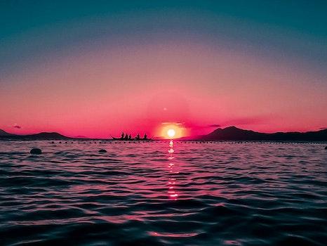Free stock photo of sunset, beach, vacation, travel