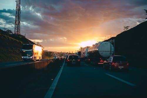 交通, 交通系統, 日出, 日落 的 免費圖庫相片