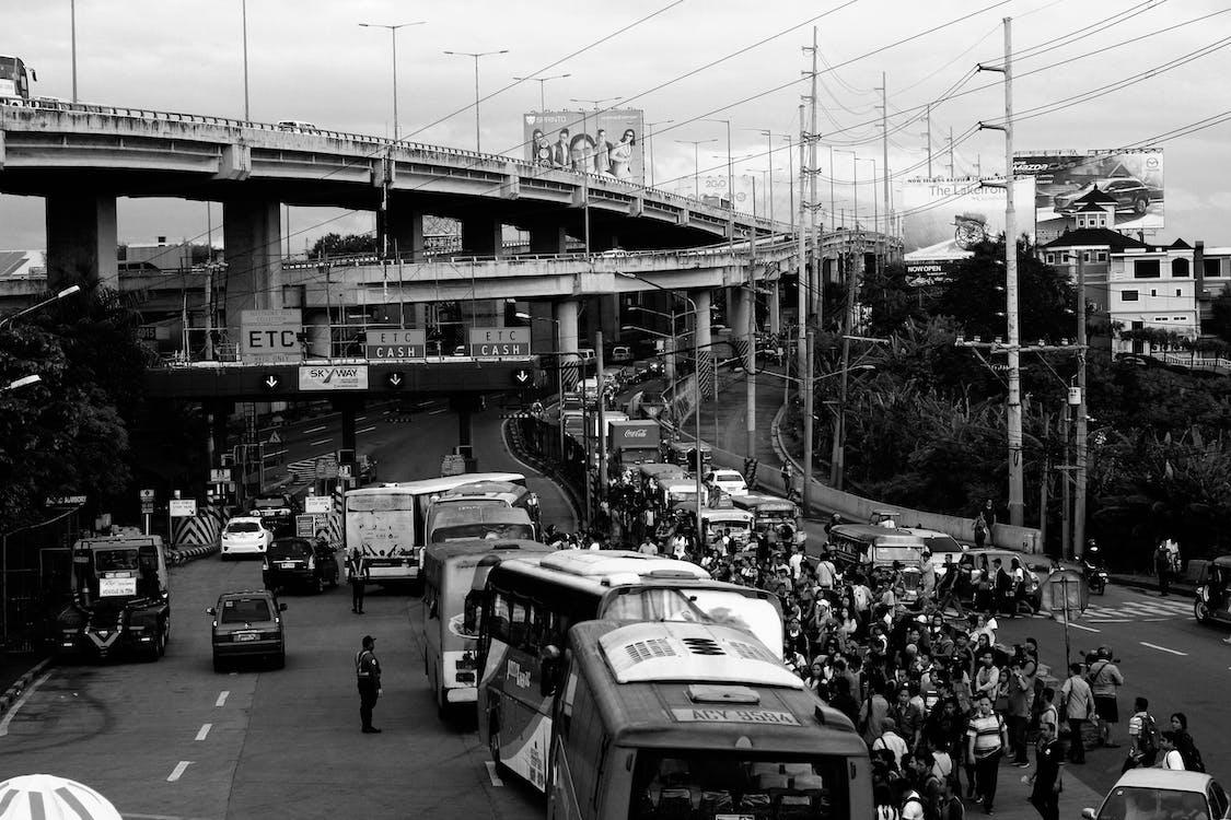 architektura, autobus, autobusy