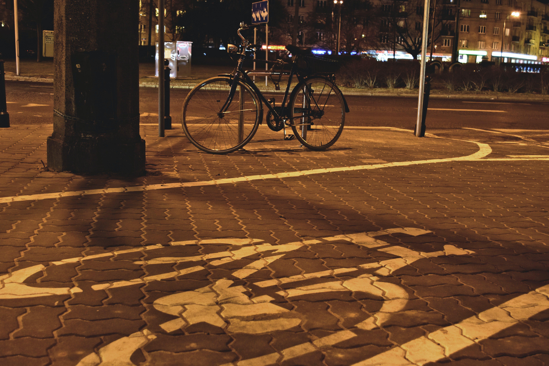 Free stock photo of night, bicycle, warsaw, zoliborz