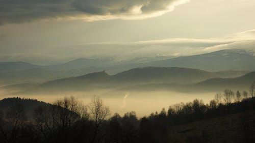 Základová fotografie zdarma na téma hory, romantický, večerní obloha