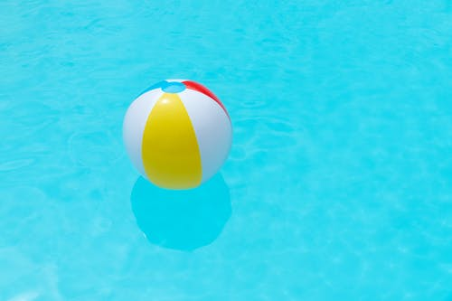 Beach Ball Floating on Water