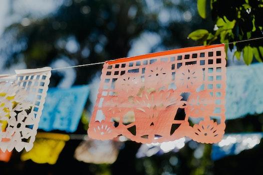 Orange Origami Hanging