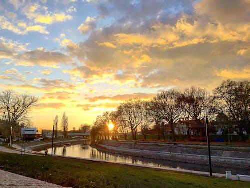 Gratis lagerfoto af farve, natur, naturfotografering, solnedgang