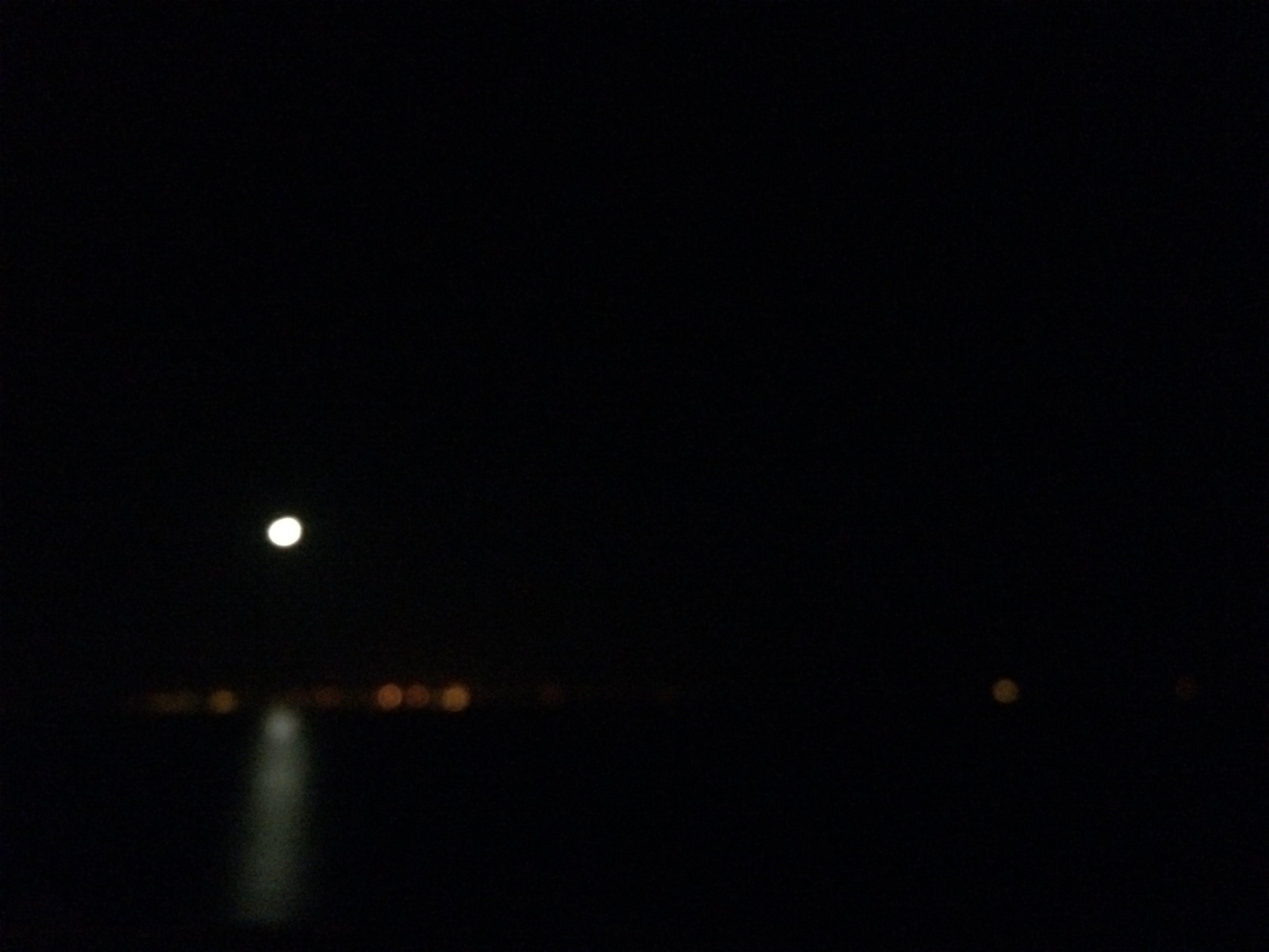 Free stock photo of blur, dark, full moon, lights