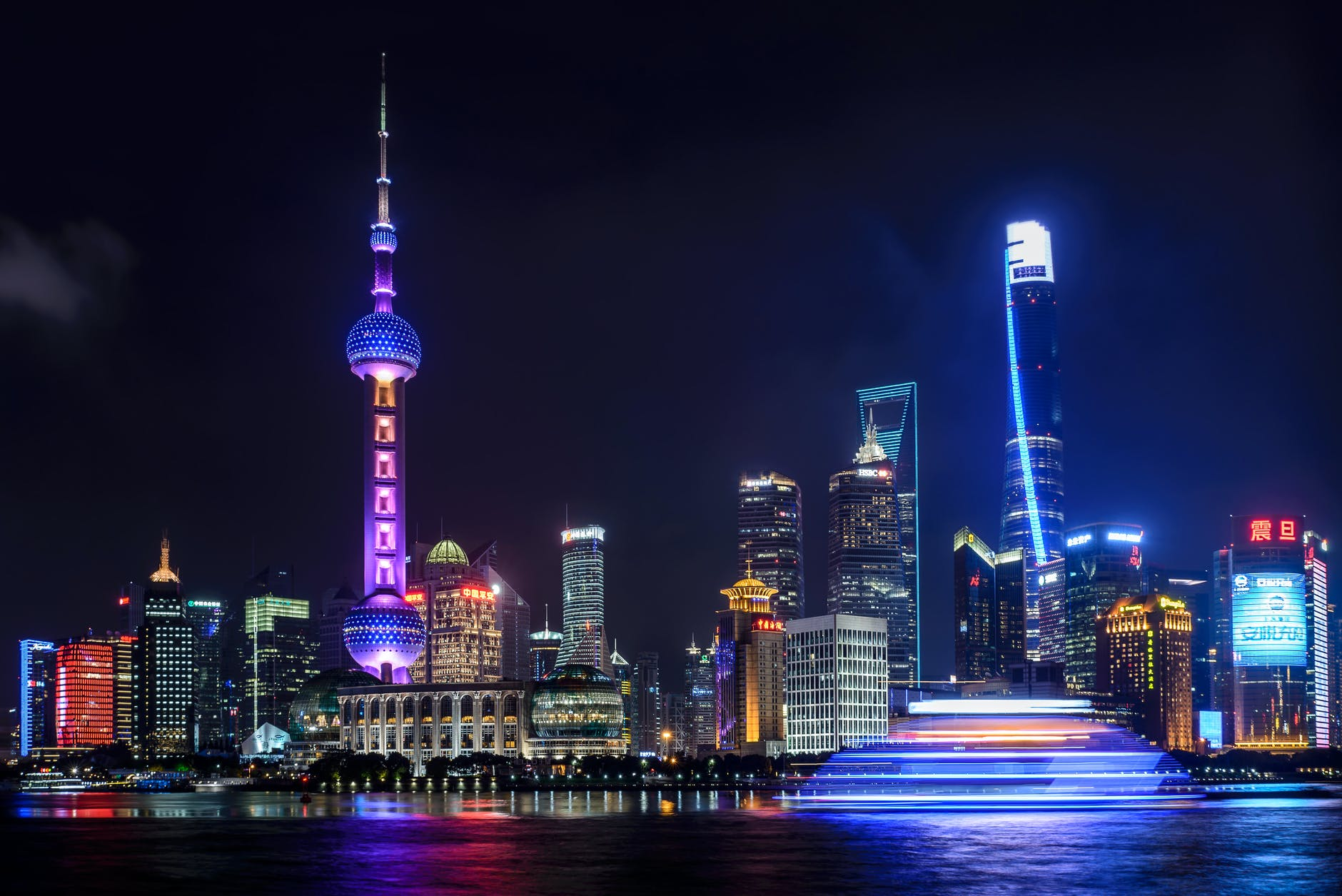 Grab a drink, enjoy Shanghai's night skyline at The Bund. Source: Pexels