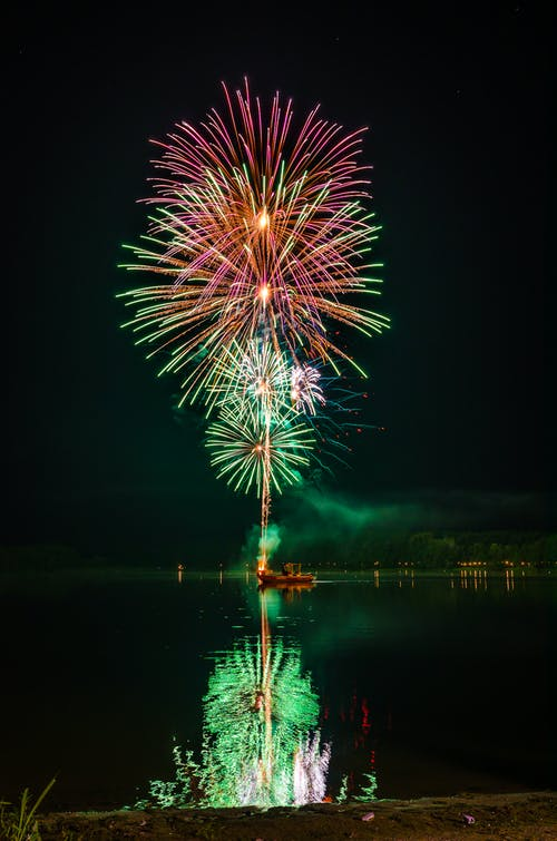 Free stock photo of colors, fireworks, green