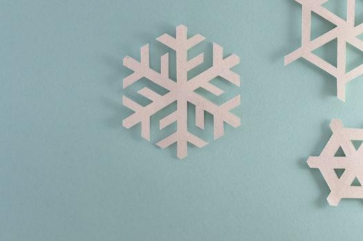 Gray Snow Flake Wall Decor
