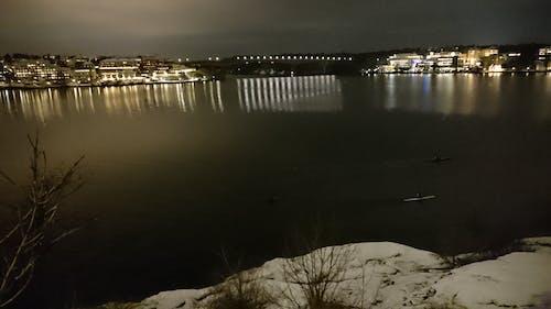 Kostnadsfri bild av paddla kajak, snö, vatten, vinter