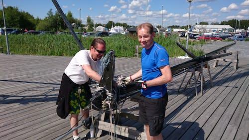 Kostnadsfri bild av Bay Bridge, mast, trä däck