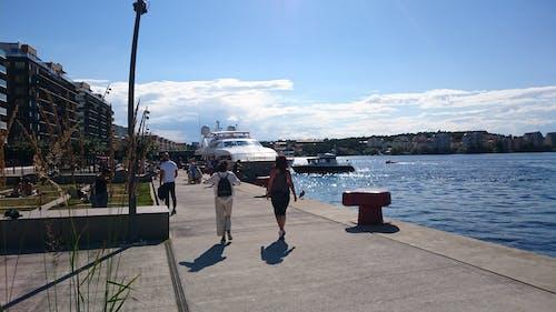 Kostnadsfri bild av båtar, gångväg